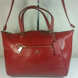 Vintage Coach Red Leather Bag carry-all Legacy